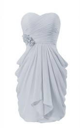 Sweetheart Short Tiered Dress With Flower