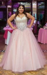 Ball Gown Tulle Sweetheart Sleeveless Zipper Dress