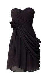 Sweetheart A-line Chiffon Dress With Flower