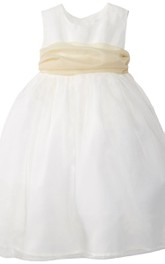 Sleeveless A-line Bowed Dress With Pleats