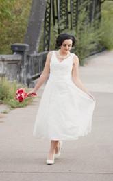 Lace Wedding Tea Length Runaround Sue Dress