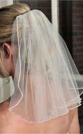 Cute Short Simple Tulle Bridal Veil