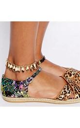 Western Style Summer Sandals Leaf Tassel Anklet