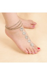 Vintage Ethnic Wind Metal Multi-layer Chain Metal Chain With Ankle Chain 27Cm7