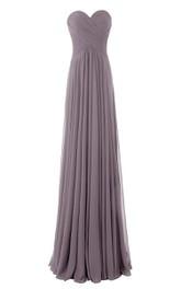 Simple Sweetheart Criss-cross Chiffon A-line Dress
