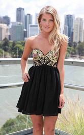 Graceful sweetheart Beaded Ruffle Party Dresses