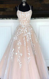 Tulle Floor-length Brush Train A Line Sleeveless Adorable Formal Dress with Ruffles