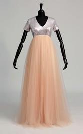 A-line T-shirt Short Sleeve Dress