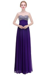 Sweetheart A-line Dress with Empire Ruched Waist