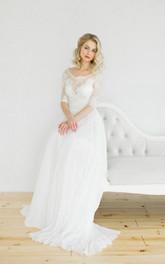 White Vintage Style Wedding Weddig Dress