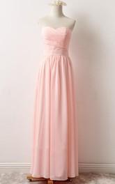 Strapped Chiffon&Lace Dress With Corset Back