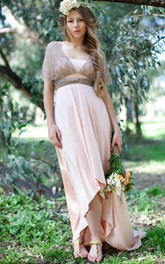 High Low Mocha Lace Dress