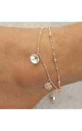 Western Style Foreign Trade New Hollow Rose Crystal Bells Anklets Multi-layer Foot Ornaments