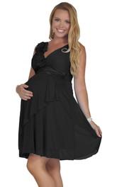 Sleeveless V-neck Short Chiffon Dress With Pleats