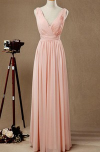 Floor-length Chiffon Dress