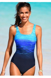 Romantic Gradient One Piece Swimsuit