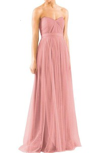 Convertible Tulle Floor-length Bridesmaid Dresses