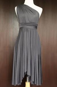 Slate Bridesmaid Convertible Twist Wrap Dress