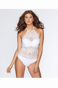Sexy Regular-Wave Plain Swimsuit