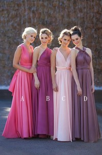 Newest A-line Sleeveless 2018 Bridesmaid Dress Floor-length High Quality