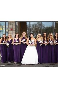Purple Floor-length Jersey Dress