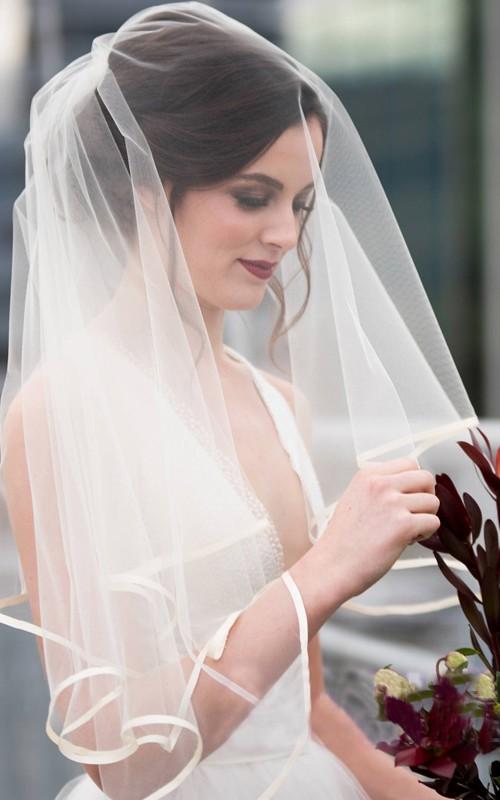 Super Fairy Simple Multi-Layer Short Wedding Veil